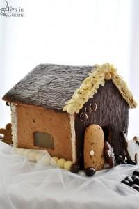 Casetta di pan di zenzero e cioccolato per sentire la magia del Natale!