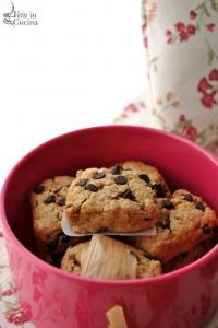 Biscotti di farina integrale, avena e cioccolato fondente