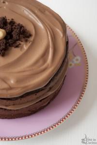 Torta al cioccolato, vaniglia e caffè