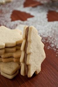 Biscotti alla vaniglia e crema Chantilly al cioccolato