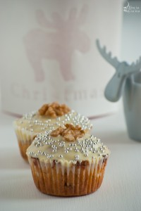 Muffin al cioccolato bianco e noci