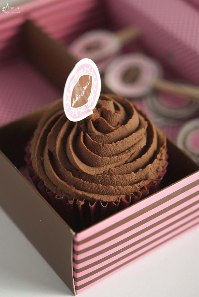 cupcake al cioccolato e caffe