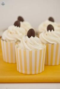 Cupcake al rum e cioccolato bianco
